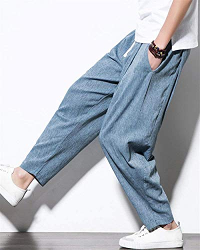 Cómodo Sueltos Haremshose Chándal De Blau Informal Entrepierna Pantalones Primavera Grau Bloomers Deportivos Otoño Battercake Harem nxzwn
