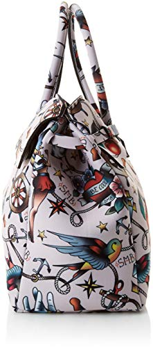 Donna Mano save my 4 a Cipria x Miss W bag H L 3 Tattoo 39 Borsa Multicolore cm 5x34x19 x 08dr0FqB