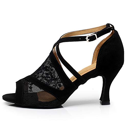 CXS Ladies Open Toe Party Wedding Heels Ballroom Dance Shoes for Salsa Tango and Practice, 2.75