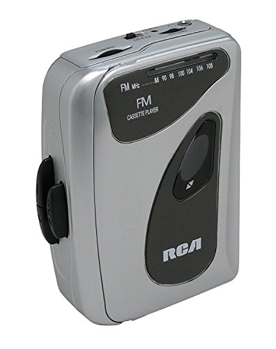 RCA Portable Walkman Personal Cassette Player FM Radio, Analog Tuning Volume Control, Gray, RCP268 (Non-Retail Packaging) (Cassette Player Rca)