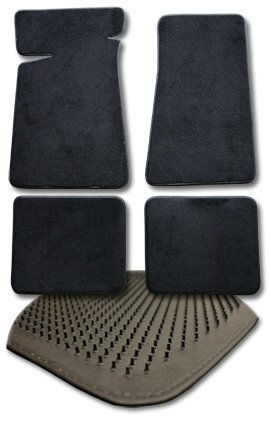 FORD FAIRLANE CARPET FLOOR MATS 4PC FM36 - BLACK (1959