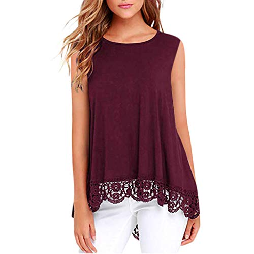 - TANGSen Women Plus Size V-Neck Solid Tops Button Short Sleeve Fashion Blouse Casual T-Shirt Loose Shirt (Wine Red,M)