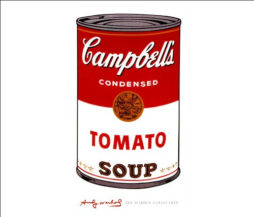 Beyond The Wall Andy Warhol Campbells Soup I Tomato Celebrity Art Icon Poster Print (11x14 UNFRAMED Print) Andy Warhol Campbells Soup Can