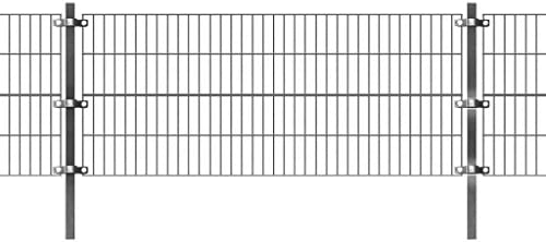 Festnight Panel de Valla de Jardin Metalica 6 x 0.8 m: Amazon.es: Hogar