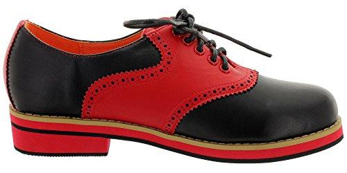 ville Dancing Chaussures noir femme à lacets rouge Days de pour ptrntq
