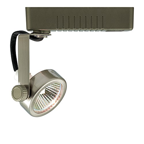 Jesco Lighting LLV13250SC Mini Deco Series Low Voltage Track Head for L 2-Wire Single Circuit Track System, Satin Chrome