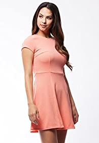 Equivida Pullover Fit and Flare Dress with Cap Sleeves