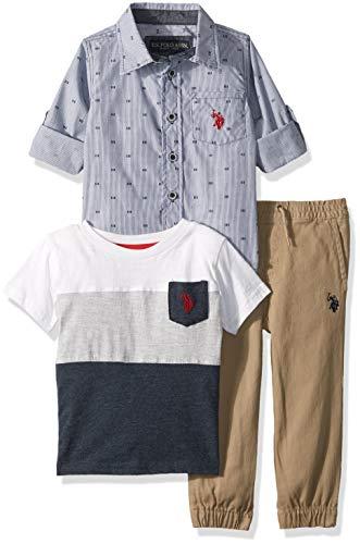 U.S. Polo Assn. Boys Short Sleeve, T-Shirt Pant Set