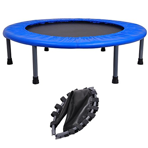 Round Fitness Mini Trampoline Folding Rebounder Indoor Outdoor Exercise Kid 36