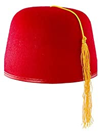 Durashape Fez Hat (Red) Adult Accessory