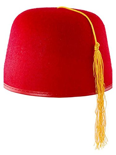 Rubie's Costume Co Durashape Fez Hat- Red Costume (Red Fez Hat)