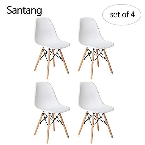 Sillas de Comedor Eames, sillas Estilo Eames de Santang ...