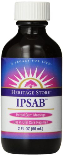 Heritage Store Ipsab Herbal Gum Massage, 2 - Powder Tooth Heritage Ipsab