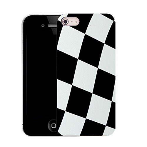 Mobile Case Mate iPhone 5c clip on Silicone Coque couverture case cover Pare-chocs + STYLET - check flag pattern (SILICON)