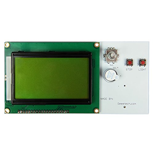 OLSUS PCB + Electronic Components Reprap LCD12864 Smart Controller Display for 3D Printers - White by OLSUS