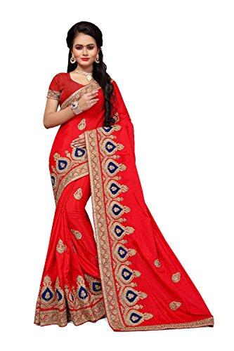 Da Facioun Saris Indiens Pour Les Femmes Portent Partie Concepteur De Mariage Traditionnel Sari Orange.