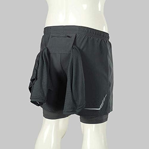 1ショーツメンズ速乾性通気性のアクティブトレーニングスポーツジョギング・マラソンサイクリングフィットネスで2 (Color : Dark Grey, Size : S(EU))
