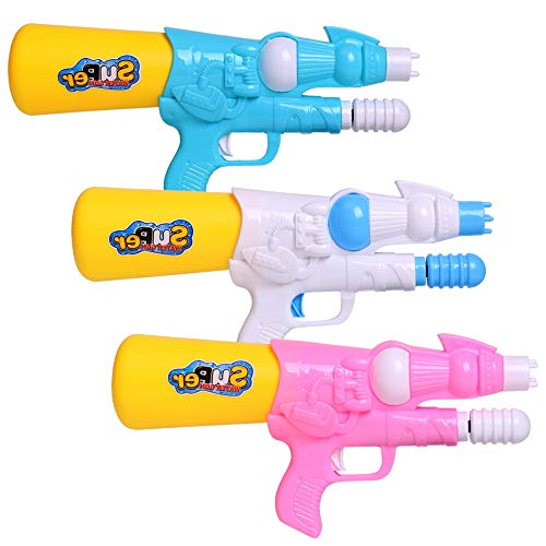 JUOIFIP 3 Pack Super Water Gun High Capacity Water Soaker Blaster Squirt Toy no Leak for Summer Indoor Outdoor Swimming Pool Beach Sand Water Guns Fighting Toy
