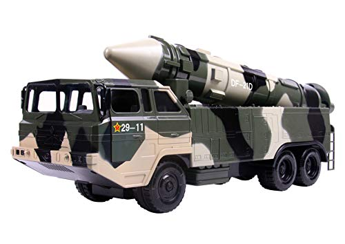 (Big Daddy Military Missile Transport Army Truck Mega Russian Long Range Missile Jungle Camouflage Toy Truck)