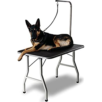 Grooming Table for Pet Dog or Cat - 36 Inch Foldable, Portable with Adjustable Arm and Clamp