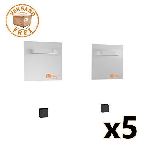 5x Hang-it Spiegel Aufhänger Set inkl. 10 Spiegelaufhänger - Spiegelhalter und 10 Abstandshalter