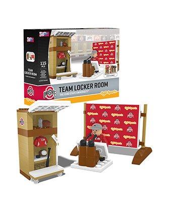 Oyo Sportstoys NCAA Ohio State Buckeyes Locker Room Set Minifigure, Small, Black