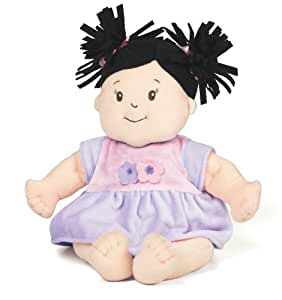 Manhattan Toy Baby Stella Black Hair Soft Nurturing First Baby Doll