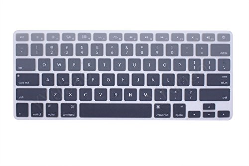 YYubao Super Stretchy Silicone Keyboard Cover Skin Protector for MacBook Pro 13 15 17 (with or without Retina Display) MacBook Air 13 and iMac (Fits US Keyboard Layout only) - Ombre Grey