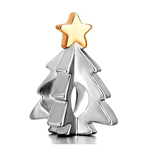 Pugster Guiding Star Christmas Tree Charm Beads Fits Pandora Charm ()