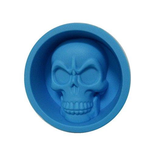HONGLIDA Silicone Skull Mold Skull Baking Pan Muffin Cups, 4 Pack