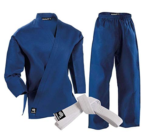 Zephyr Martial Arts Karate Gi Student Uniform with Belt - Blue - - Zephyr Wrap