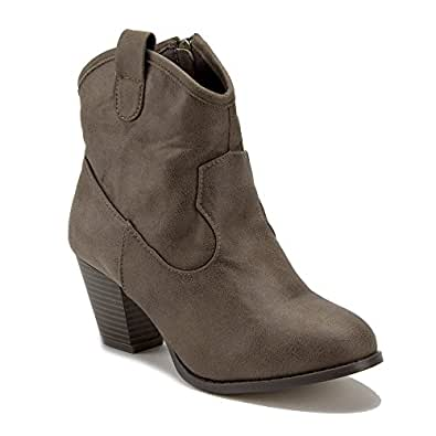 Women's Kody Short Cowgirl Western Cowboy Bootie Boots