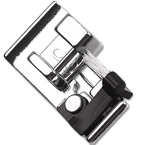 DREAMSTITCH 822801001 Overedge Presser Foot C (top Load) Snap On for Janome Sewing Machines (Bring White Brush),Babylock,Elna,Kenmore,Pfaff,Viking, 822801001 - A2-2