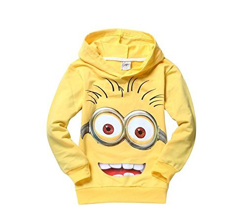 Buy Home Despicable Me 2 Little Boys Girls Minions T-Shirt Hoodies Tops Tees (3T(110), Yellow)
