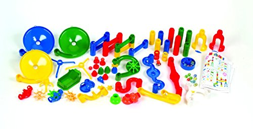 Edushape Marbulous Marble Run - 82 Pieces + 50 Marbles (Total 132 Pc Set) Sturdy Setups with Clear Step-by-step Illustrated Instructions in Four Different Skills Levels by Edushape (Image #3)