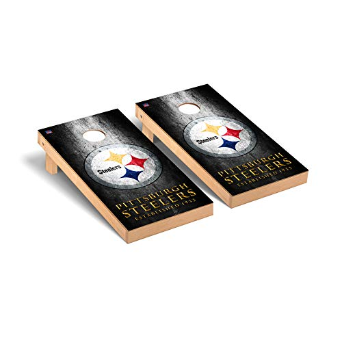 Pittsburgh Steelers NFL Football Regulation Cornhole Game Set Museum Version -  Victory Tailgate, 807679