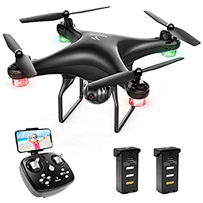 SNAPTAIN SP600 WiFi FPV Drone with 720P HD Camera, Voice Control, Gesture Control, Gravity Control, RC Quadcopter with Altitude Hold, Headless Mode, One Key Take Off/Landing/Return and VR Mode