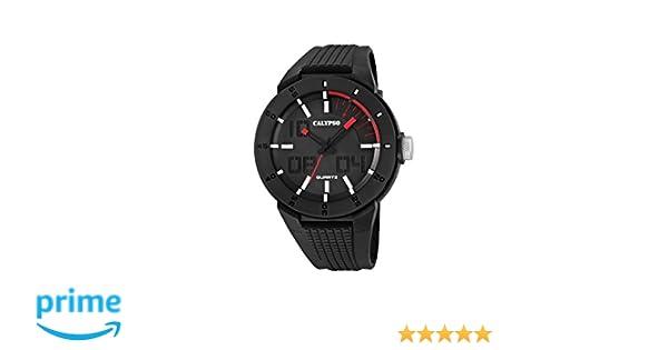 Calypso watches K5629/2 - Reloj de pulsera hombre, plástico, color negro: Amazon.es: Relojes