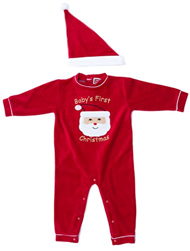 3801 12M Just Love Baby Coveralls Santa Face 12 Months Infant Baby Boys Velour Coverall