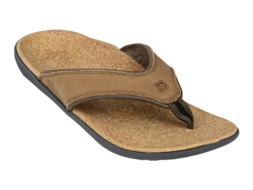 Spenco Yumi Leather - Mens Orthotic Sandals Medium Brown - 13