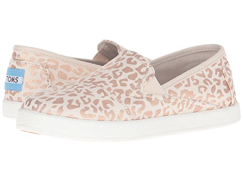 3b982077887 Toms Kids Girl s Avalon Slip-on Natural Cheetah Foil Sneaker (5 big ...