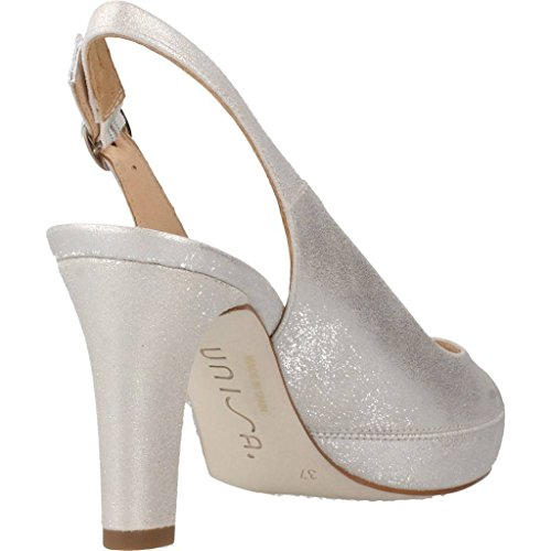 Sandalias de vestir para mujer, color Plateado , marca UNISA, modelo Sandalias De Vestir Para Mujer UNISA NICK 17 Plateado Plateado