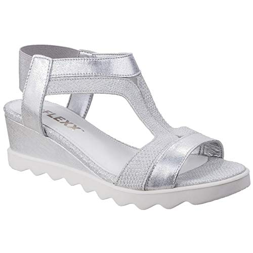 Tony Leather Graffiti Flexx white Sandals Silver Litle milos The BTEcWc