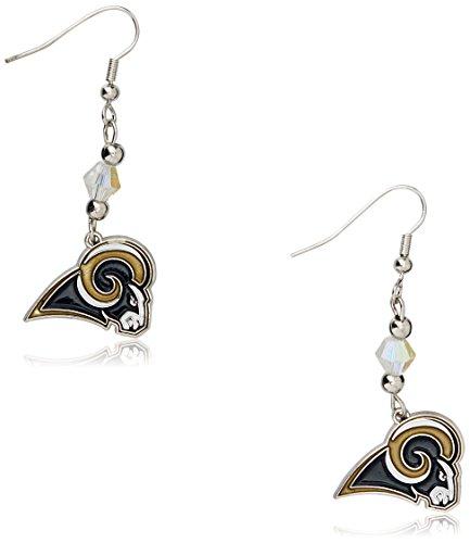 Siskiyou NFL St. Louis Rams Crystal Dangle Earrings