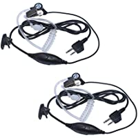 Arama Transparent Security Headsets with PTT/VOX for Midland 2 Way Radio (Pair)(B201VL02)