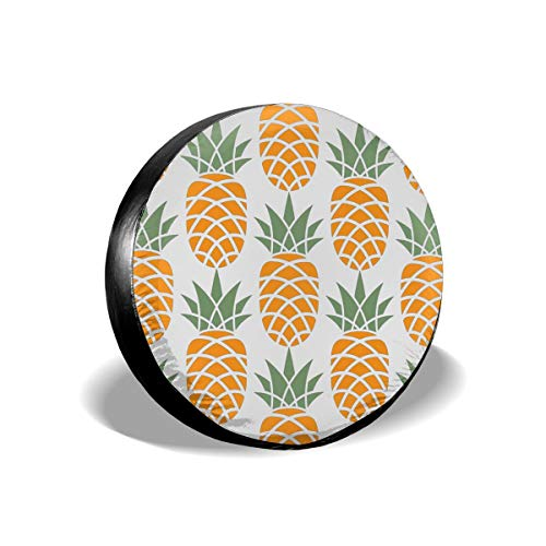 - Bizwheo Yellow Pineapple 1 Dust-Proof Wheel Tire Covers Universal Spare Tire Cover Fits 14,15,16,17 in