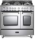 Verona Prestige Series VPFSGG365DSS 36 inch All Gas Range 5 Sealed Burners Double Oven Convection Stainless Steel
