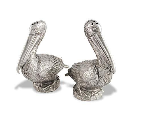 Vagabond House Pewter Pelicans Salt & Pepper Set 3.5