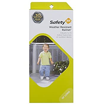 Safety 1st Kids Safety Railnet For Indoor Balconies And Outdoor Decks,  Extends Up To 10