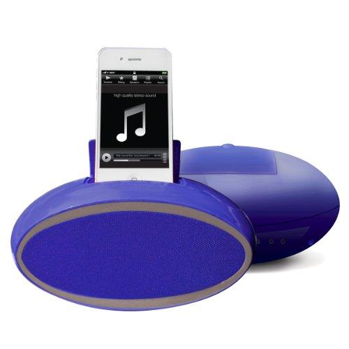 VIBE SOUND VS 599 BLU Oval Stereo Speaker (Blue) by Vibe Sound